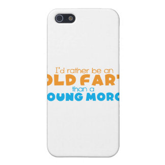 I'd rather be an OLD FART than a young MORON iPhone SE/5/5s Case