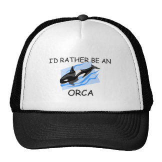 I'd Rather Be An Orca Trucker Hat