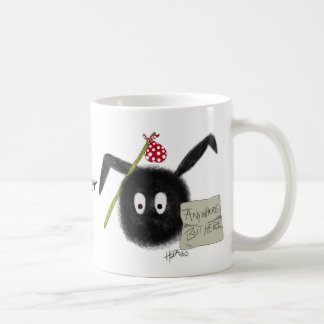 I'd Rather Be Anywhere But Here!, funny Dust Bunny Coffee Mug