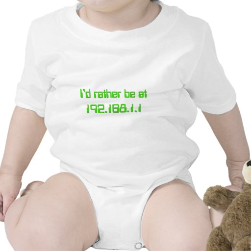 I'd rather be at 192.168.1.1 (HOME!) Rompers