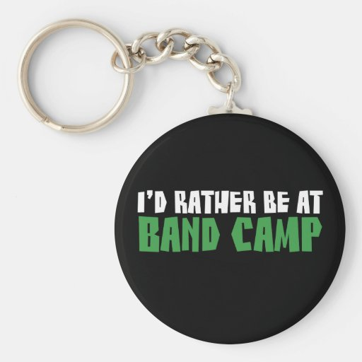 I'd Rather be at Band Camp Basic Round Button Keychain