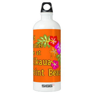 I'd Rather Be At Kikaua Point Beach, Hawaii SIGG Traveler 1.0L Water Bottle