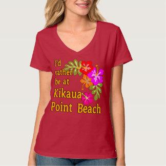 I'd Rather Be At Kikaua Point Beach, Hawaii Tee Shirt