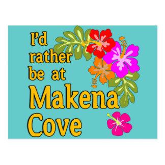 I'd Rather be at Makena Cove Hawaii Postcard