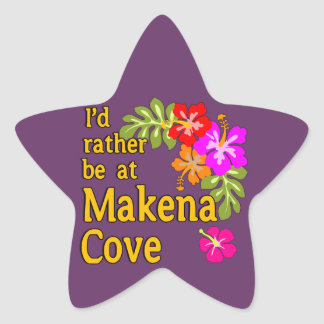 I'd Rather be at Makena Cove Hawaii Star Sticker