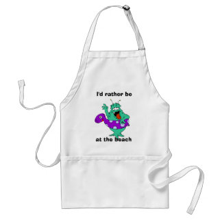 I'd rather be, at the beach apron