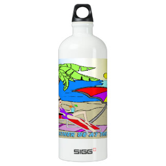 I'd Rather Be at the Beach - Woman Liberty Bottle SIGG Traveler 1.0L Water Bottle