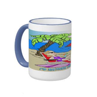 I'd Rather Be at the Beach - Woman Mug