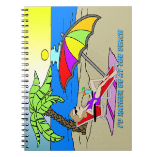 I'd Rather Be at the Beach - Woman Notebook