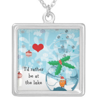 I'd Rather be at the Lake Pet Fish Necklace