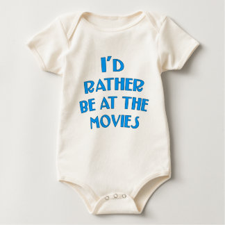I'd Rather be at the Movies Baby Bodysuit