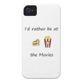 I'd rather be at the movies iPhone 4 case