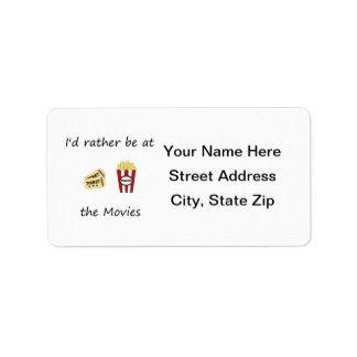 I'd rather be at the movies label