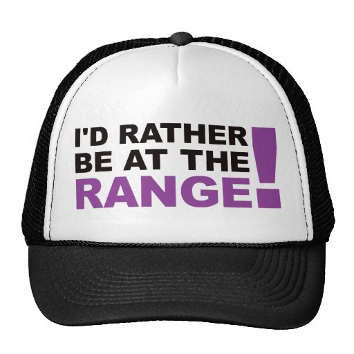 Id Rather Be At The Range - Purple Trucker Hat