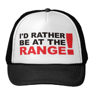 Id Rather Be At The Range - Red Trucker Hat