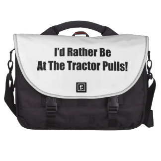 Id Rather Be At The Tractor Pulls Tractor Gifts Laptop Commuter Bag
