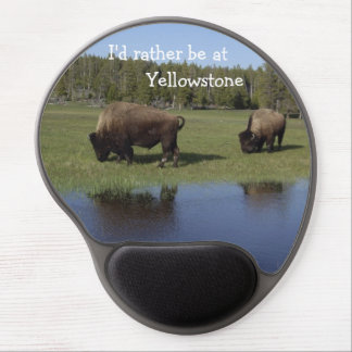 I'd rather be at Yellowstone Mousepad Gel Mousepad