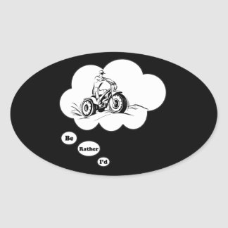 I'd rather be ATV Riding 2 Sticker