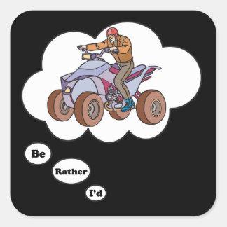 I'd rather be ATV Riding 3 Sticker