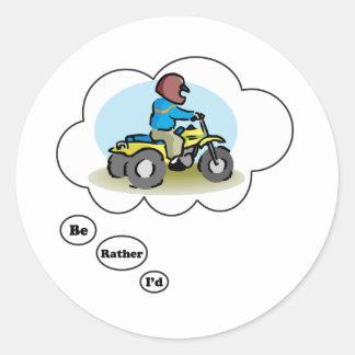 I'd rather be ATV Riding 4 Sticker