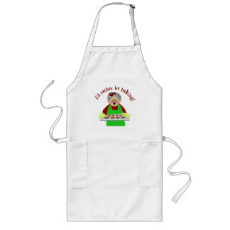 I'd Rather Be Baking - Mrs. Claus Long Apron