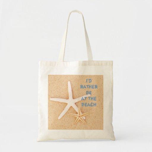 I'd Rather Be... Beach Beachbag Tote Bag