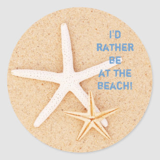 I'd Rather Be... Beach Stickers
