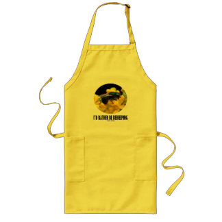 I'd Rather Be Beekeeping (Bee On Barberry Flower) Long Apron
