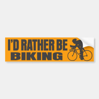 I'd Rather Be Biking Car Bumper Sticker