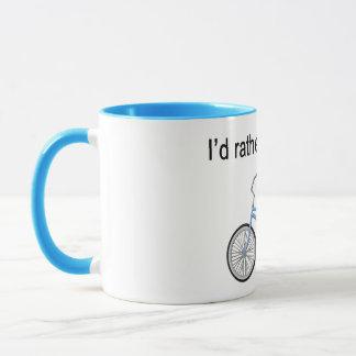 I'd rather be biking - great sentiment and design mug