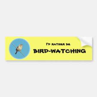 I'd Rather Be Bird-Watching Bumpber Sticker Car Bumper Sticker