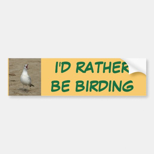 I'd rather be birding Bumper Sticker Car Bumper Sticker