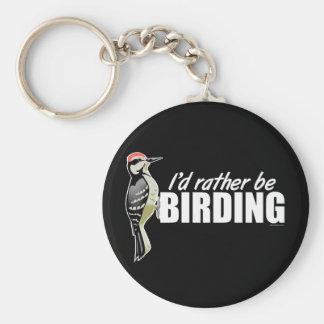 I'd Rather Be Birding Keychain