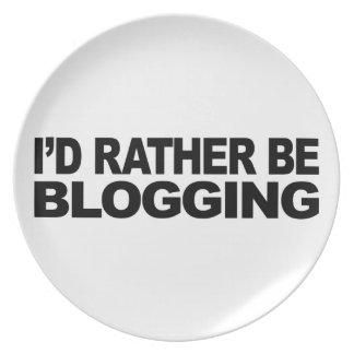 I'd Rather Be Blogging Dinner Plate