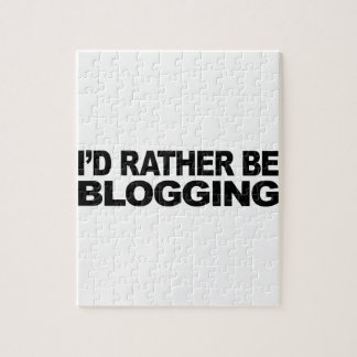 I'd Rather Be Blogging Puzzle