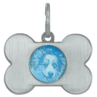 I'd Rather Be Blue Pet ID Tag