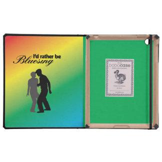 I'd Rather Be Bluesing Rainbow Edition iPad Case