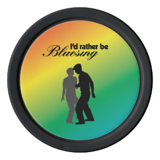 I'd Rather Be Bluesing Rainbow Edition Poker Chips