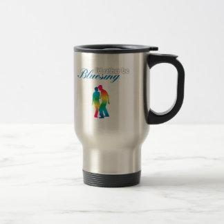 I'd Rather Be Bluesing Rainbow Edition Travel Mug
