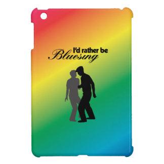 I'd Rather be Bluesing With Rainbow Background iPad Mini Cases