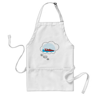 I'd rather be Boat Racing Adult Apron