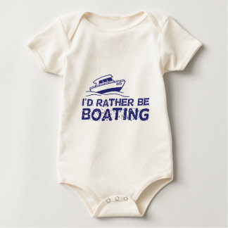 I'd Rather Be Boating Baby Bodysuit