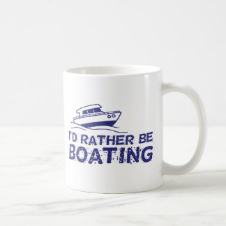 I'd Rather Be Boating Coffee Mug