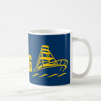 I'd rather be boating mug | speedboat design