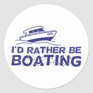 I'd Rather Be Boating Stickers