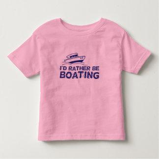 I'd Rather Be Boating Toddler T-shirt
