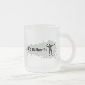 I'd Rather Be Bodybuilding Frosted Glass Coffee Mug