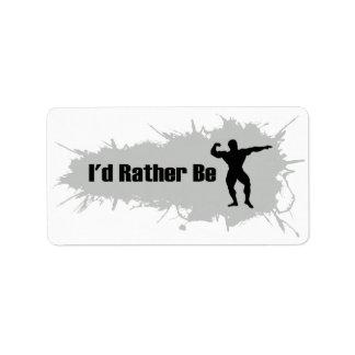 I'd Rather Be Bodybuilding Label