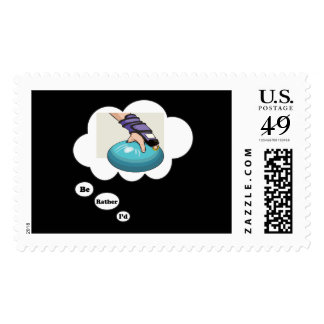 I'd rather be Bowling 3 Postage Stamp
