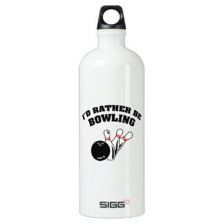 I'd Rather Be Bowling Aluminum Water Bottle
